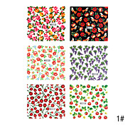6pcs 2D Other Finger Nail Sticker