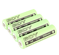BDY Ni-MH AA Rechargeable Battery (1.2v, 2200 mAh)