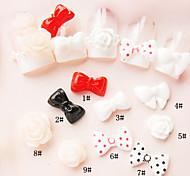 10pcs 3D Nail résinique Décorations