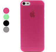 Carcasa Ultra Delgada Dura de Aspecto Congelado para el iPhone 5 - Colores Surtidos