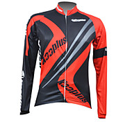 KOOPLUS Men's Cycling Tops / Jerseys Long Sleeve Bike Autumn / Winter Breathable / Quick Dry / Front Zipper / Wearable Red / BlueS / M /