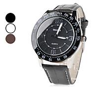 Unisex PU analogico al quarzo orologio da polso con calendario (colori assortiti)