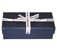 Silk Bowknot Navy Blue Jewelry Box