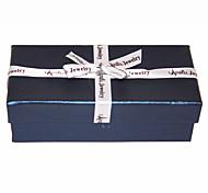 Seda bowknot Marinha Caixa de Jóias Azul