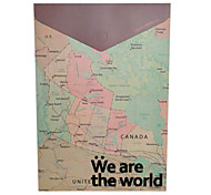 Vintage Map World Design Packet arquivo A4