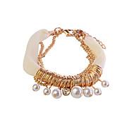 Lureme®Chiffon Chain Pearl Bracelet