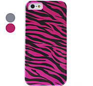 Zebra-Stripe Pattern Hard Case for iPhone 5/5S (Assorted Colors)