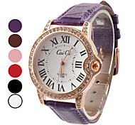 Women's Roman Number Design PU Analog Quartz Wrist Fashion Watch (Assorted Colors) Cool Watches Unique Watches