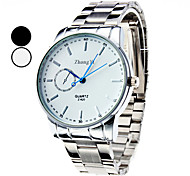 Men's Simple Dial Silver Alloy Quartz Wrist Watch (Assorted Colors) Cool Watch Unique Watch
