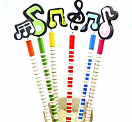 Colorful Musical Note Design Pencil (6-Pack)