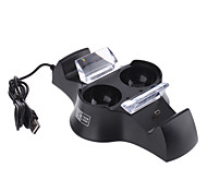 Quad Charging Station for PS3 Wireless Controller and MOVE Controller (Black)