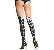 Pink Ribbon Bow Stone Pattern Sweet Lolita Stockings