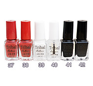 6PCS Tribal Color Multi-Color Environmental Friendly Nail Art Decorative Polish(6ml,Color No.37-42)