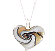 Vortex Heart-shaped Coloured Glaze Necklace
