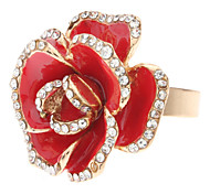 Ring Adjustable Jewelry Crystal / Alloy Statement Rings5 Red