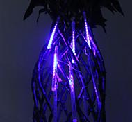 30 centímetros Festival decoração azul luzes LED Chuva de meteoros para Festa de Natal (8-Pack, 110-220V)