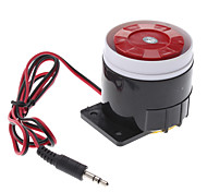 120dB Loud Security Alarm Siren Horn Speaker Buzzer (DC 6~16V, Black Red)