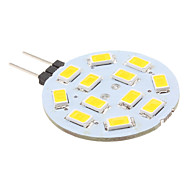 G4 2W 12 SMD 5630 220 LM Warm wit 2-pins LED-lampen DC 12 V