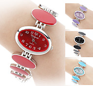 Dames Modieus horloge Kwarts Band Zwart / Wit / Rood / Roze / Paars Merk-