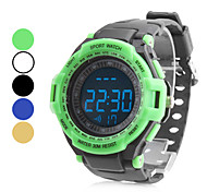 Unisex Rubber Digital LED Wrist Cycling Sports Watch (Black)