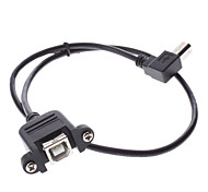 USB-B Male to USB-B Female Adapter Extend Cable