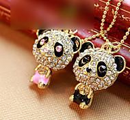 Women's Diamond Panda Necklace