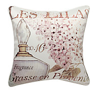 Modern Perfume Print Decorative Pillow Cover