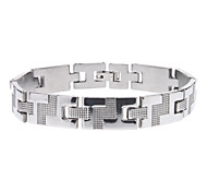 Stair Pattern Stainless Steel Bracelet
