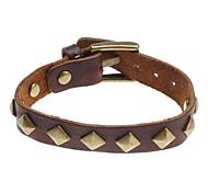 Z&X®  Square Rivet Leather Bracelet