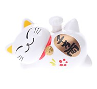 Solar Powered Lucky Cat Head Shaking Desktop Toy