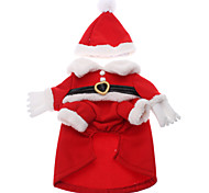 Cat / Dog Costume / Coat / Outfits Red Dog Clothes Winter Cosplay / Christmas / New Year's / Halloween