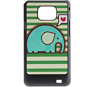 Flash Design Cute Elephant Pattern Hard Case für Samsung Galaxy S2 I9100