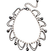 Small Bell Bead Chain Gun Black Anklets