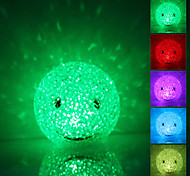 Sourire visage en forme de cristal coloré LED Night Light Lamp (3xLR44)