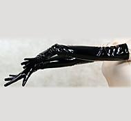 Guantes de PVC negro hombro Hasta (2 Piezas)
