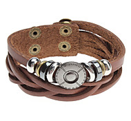 Z&X®  Cross Beads Rivet Leather Bracelet
