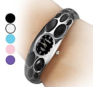 Women's Steel Analog Quartz Bracelet Watch (Assorted Colors)