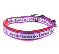 Candy LOVE Pattern Nylon Collar with Foam for Dogs (Assorted Color)