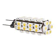 daiwl 2.5w g4 38x3528 SMD 180-200lm 3000-3500K cálida luz blanca bombilla LED de maíz (12v)