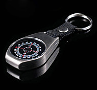 Silver Portable Stainless Compass For Camping