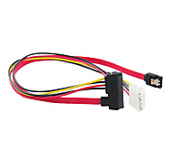 SATA 7+15pin to SATA 7pin & 4pin Cable (15 cm)