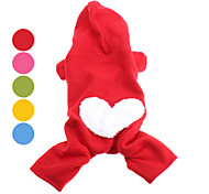 Dog Hoodie Red / Green / Blue / Pink / Yellow / Orange Winter Hearts