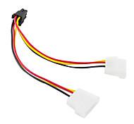DB 4pin к БД 6pin Видеокарта кабель (15 см)