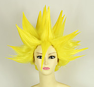 Parrucche Cosplay Dragon Ball Vegeta Giallo Corto Anime Parrucche Cosplay 35 CM Tessuno resistente a calore Uomo