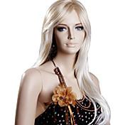 Medio sintético de alta calidad rubia de pelo Pelucas