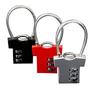Tiny Man Wire-rope 3-digit Combination Lock (Random Color)
