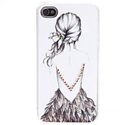 Lady Pattern Hard Case für iPhone 4/4S