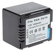 batería de vídeo digital panasonic reemplazar DU14 para Digimax Digimax l50 l60 y más (7,2 V, 1400 mAh)