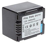 batteria video digitale sostituire panasonic DU14 per Digimax L50 Digimax L60 e più (7,2 V, 1400 mAh)