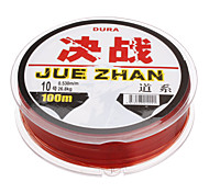 Red Plastic Superior Strength/High Abrasion Resistance Fishing Lines(100m,Random)